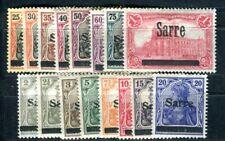 SAAR 1920 1-15,17 * TADELLOS SATZ GERMANIA 70€(F4453