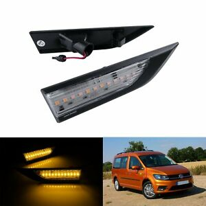 2x For VW Caddy MK4 2015+ Canbus LED Side Marker Indicator Repeater Signal Light