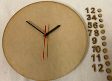 CL3 30cm Round Wooden Clock Kit Inc Numbers & Dots. Ideal For Craft, Deco Patch