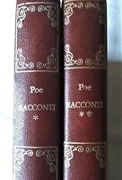 RACCONTI EDGAR ALLAN POE Vol. 1 - 2 Capolavori della Narrativa DE AGOSTINI 1983