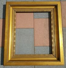(L) alter seltener Bilderrahmen Wellenleiste Flammleiste Gold FM 51,5 x 61,8 cm
