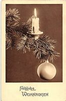 BG4804 candle fir branch  weihnachten christmas   germany greetings