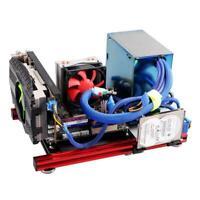 DIY Mini Open Aluminum Alloy Frame ITX Motherboard PC Computer Case DIY Kits Set