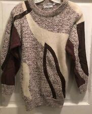 Vintage Emilio Rossi Exclusivo Sweater Medium Brown Lambswool Top Sz M Angora