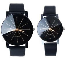 Uomo Donna Orologio Luxury Sport Analog Quartz Dial Leather Round Case Watches