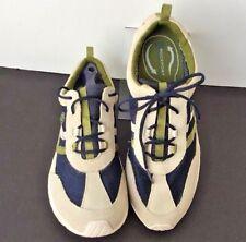 Rockport DMX Womens 9.5 M Sneaker Walking Shoe Lace Ivory Suede Mesh Trail