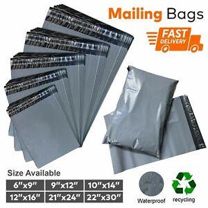 GREY Mailing Postal Post Packaging Bags Plastic Parcel Packing Postage Self Seal