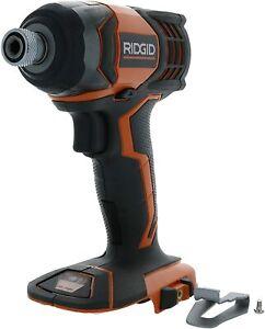"18v Ridgid Rigid 1/4"" Hex Impact Drill Driver Model R86034VN New Open Box"