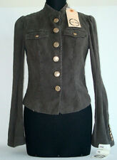 NEW Enzo Fusco Giacca camicia grigio antracite Luxury Jacket Veste