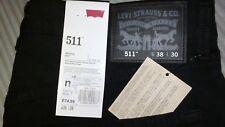 levi 511, 38w- 30l, black, red tab, skinny, levi strauss & co. *NEW*ITEM*