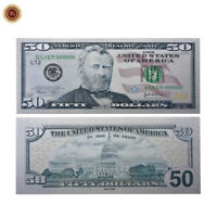 WR US $50 Five Hundred Dollar Color Silver America Novelty Banknote Collection