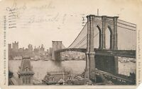 NEW YORK CITY – Brooklyn Bridge East River Bridge View from Brooklyn –udb– 1905