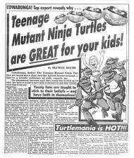 TEENAGE MUTANT NINJA TURTLES -- Weekly World News May 15, 1990