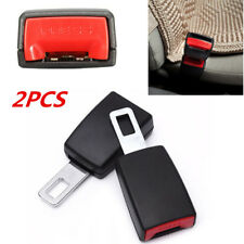 2PCS Portable Car Safety Seat Belt Buckle Extension Clip Alarm Stopper Universal