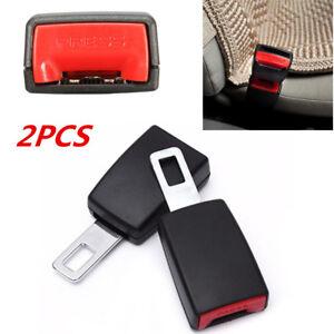 2PCS Portable Car Safety Seat Belt Buckle Extension Clip Alarm Stopper Universal