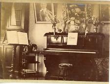 France, Paris, un piano, partition de Carl Cherny  Vintage albumen print,  Tir