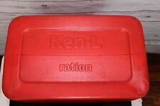 LARGE VTG Red Plastic KEN-L RATION Dry Dog Food Can Bin Container RARE 1950's