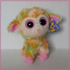 NWT Ty Beanie Boo Blossom pink yellow multi-colored lamb Easter plush toy 6