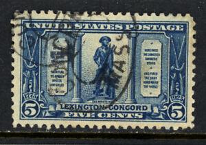 SCOTT 619 1925 5 CENT LEXINGTON CONCORD ISSUE USED VF CAT $13!