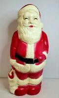 Vintage Union Products Lighted Christmas Hard Plastic Blowmold Santa Claus 1960