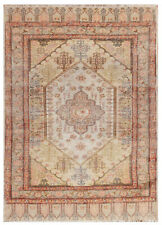 Rare Antique Silk Rug Fine Hereke Rug One of a Kind  Kaysari 2x3 Ivory C.1890