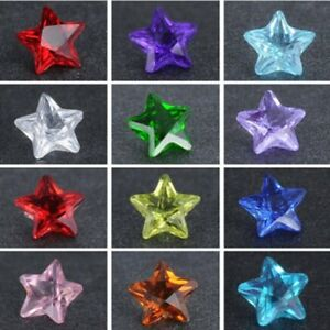 12/100PCS 5mm Star Birthstones Floating Charms For Locket Necklace Bracelet Gift