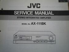 JVC AX-111BK AMPLIFICATORE servizio manuale parti di Cablaggio Diagramma di Manutenzione Riparazione