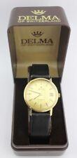 Vintage Delma Automatic 14K / 585 Gold 1960er Armbanduhr 25 Jubiläum ZF ETA 2783