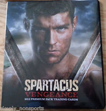 STARZ SPARTACUS VENGEANCE OFFICIAL TRADING CARD BINDER/ALBUM + P2 PROMO CARD