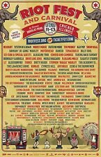RIOT FEST 2015 CHICAGO CONCERT POSTER - No Doubt, System Of A Down, Modest Mouse
