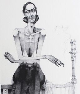 WOMAN in STOCKINGS Grotesque Erotique GICLEE PRINT Adolfo Alonso Special Edition