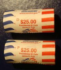 $1 PRESIDENTIAL Roll 2009 P & D James K. Polk Uncirculated US MINT ROLLS