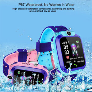 New Waterproof Tracker GPS Smart Kids Watch With Camera SOS Call For iOS Android