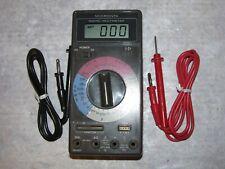 Vintage Micronta 22-194 Digital Multimeter & Test Leads - Tested/Works Perfectly