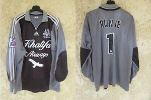 Maillot OM OLYMPIQUE DE MARSEILLE vintage ADIDAS goal RUNJE n°1 shirt trikot L
