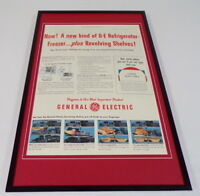 1955 General Electric Refrigerator Framed 11x17 ORIGINAL Advertising Poster