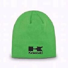 Kawasaki Embroidered Beanie Hat Green - NEW