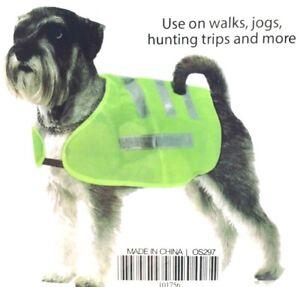 New Reflective Safety Dog Vest Fluorescent Yellow Choose Size Small Medium Large