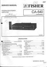 Fisher  Service Manual für CA-540