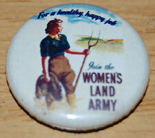 WOMEN'S LAND ARMY 25MM / 1 INCH BUTTON BADGE VINTAGE POSTER GIRLS RIGHTS EQUAL