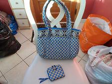 Vera Bradley handbag and matching wallet in Riviera blue