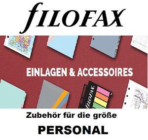 FILOFAX ZUBEHÖR für größe PERSONAL, Papier, Prospekthüllen, Tel, Adressen, ToDO