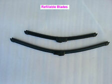 2 Refillable Soft Windscreen Wiper Blades Toyota Hilux 2005-2014 SR SR5