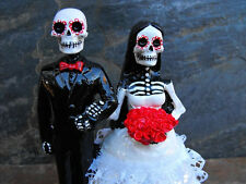 Day of the Dead Wedding Cake Topper - Shaved Head Guy - 5 Inches