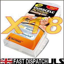18 Duracell 10 DA10 n6 A10 YELLOW Hearing Aid Batteries