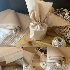 Natural Kraft Tissue Paper Small Large Sheets Recycled Eco Wrapping Parcel Gift