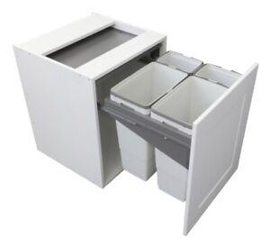 Pull Out Kitchen Waste Bin to suit 600mm, Unicargo Recycle Waste Bin- Unihopper