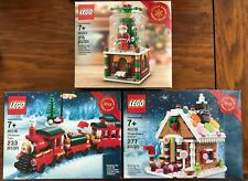 Lego Limited Edition Christmas Train 40138,Gingerbread House 40139 & Globe 40223