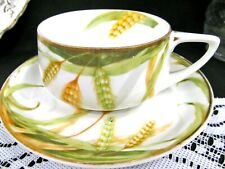 ROSENTHAL Germany tea cup and saucer wheat pattern deco teacup German Donatello