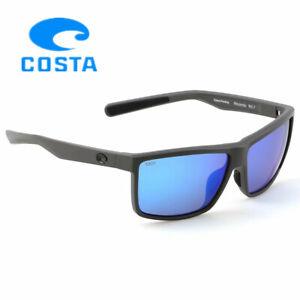 Costa Del Mar Rinconcito Matte Dark Grey Frame/Blue Polarized Lenses (580P)